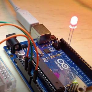 Control LED Blink Rate with Arduino