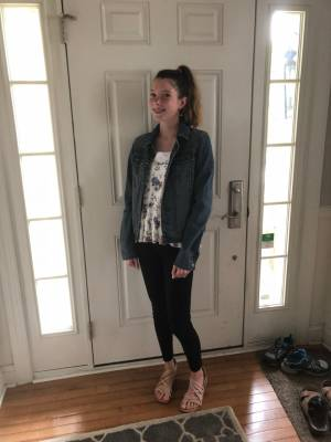 Maddie's First Day of 8th Grade