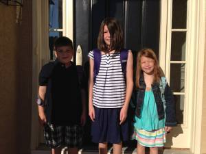 Twins 1st Day of School
