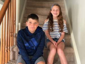 Twins' First Day of 4th Grade